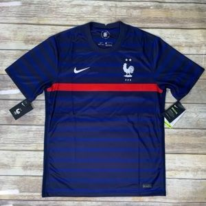 BNWT NIKE 2020-21 FRANCE HOME JERSEY BLUE-RED